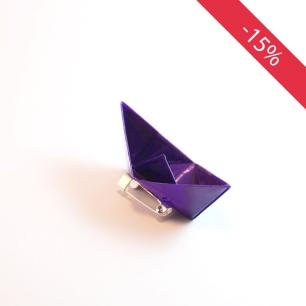 Bateau violet - Broche