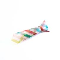 FAS1343a-broche-cravate-origami-transparente-rayures-rose-beu-vert-fraises-au-sucre