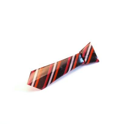 FAS1348a-broche-cravate-origami-noir-rayures-rose-orange-fraises-au-asucre