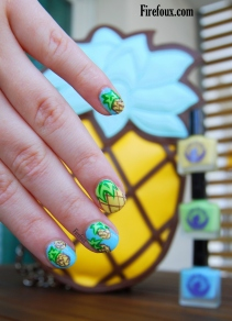 Firefoux-Nail-Art-ananas
