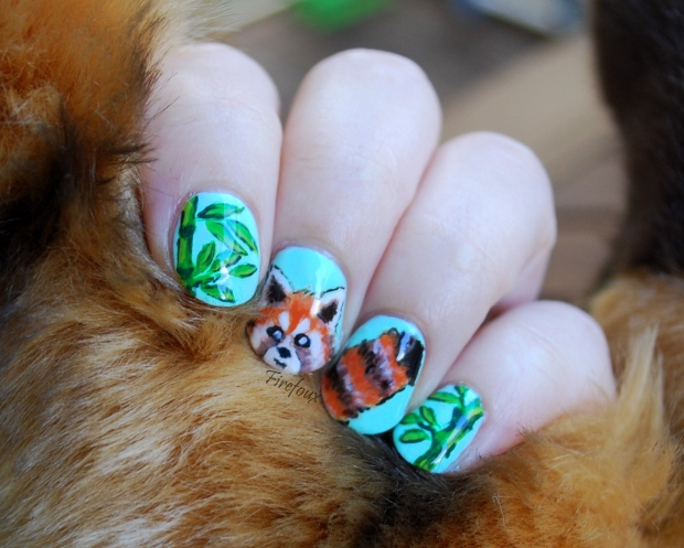 Firefoux-Nail-Art-Red-Panda-Roux