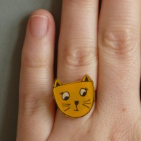 Bague Chat jaune